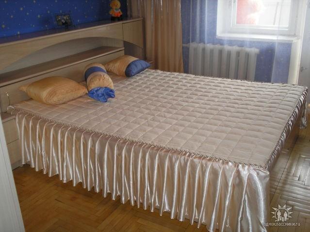 Как сшить покрывало на кровать мастер