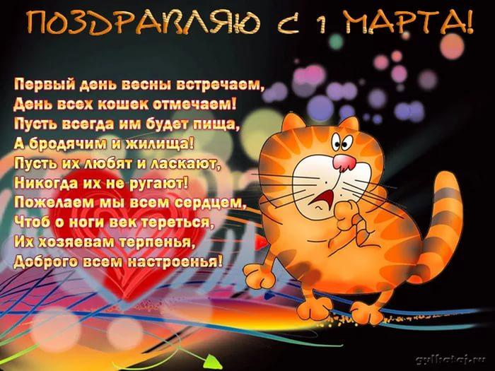 Прикольные поздравления день кошек