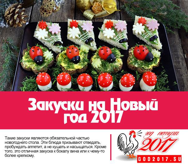 Новогодние рецепты закуски 2017 рецепты