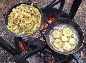 как варить картошку на рыбалку