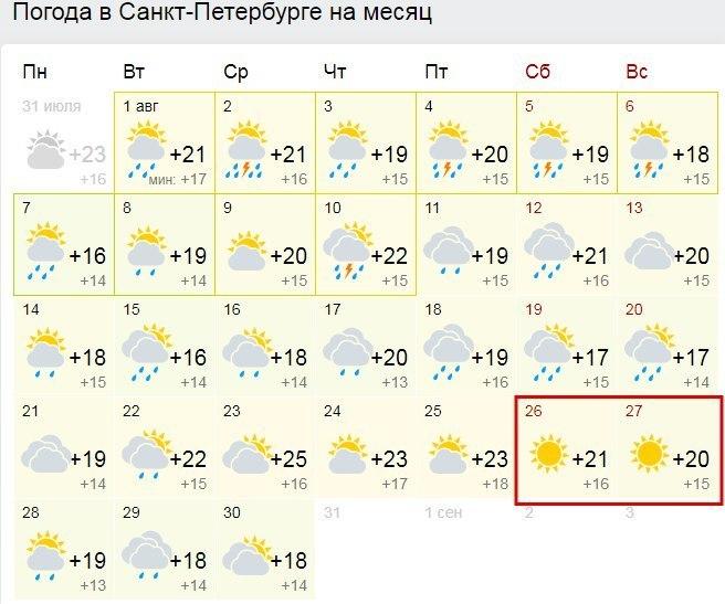 также погода в питере август 2016 детей (на
