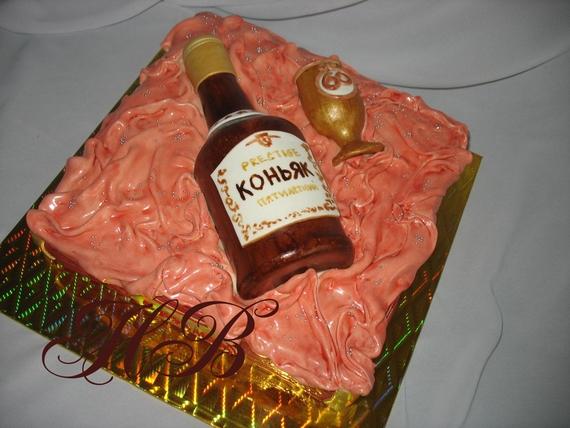 Торт бутылка коньякак фото