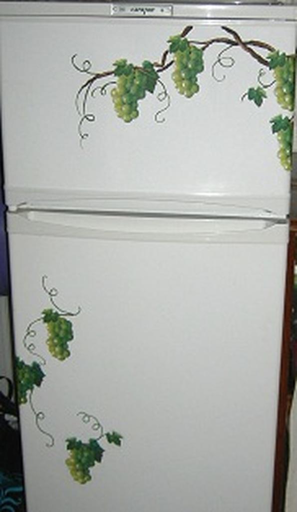 Декупаж холодильника своими руками мастер класс