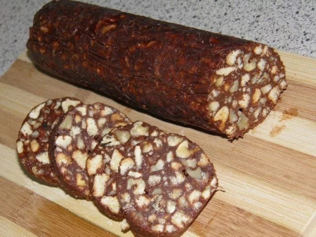 Как сделать сливочную колбаску