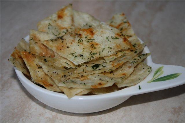 Рецепт чипсов из лаваша с сыром в