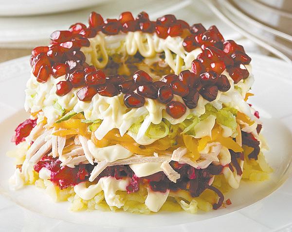 Браслет салат