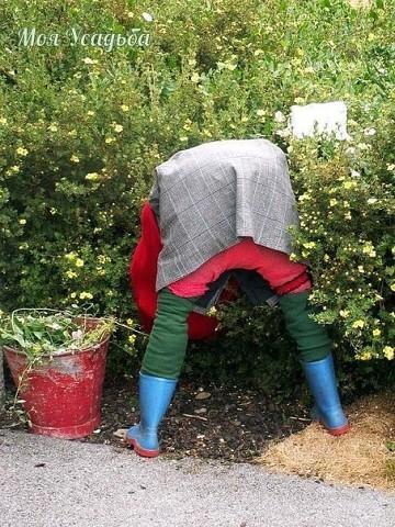 Сделать чучело для огорода своими руками