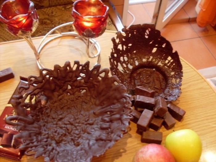 Вазочка из шоколада своими руками 67