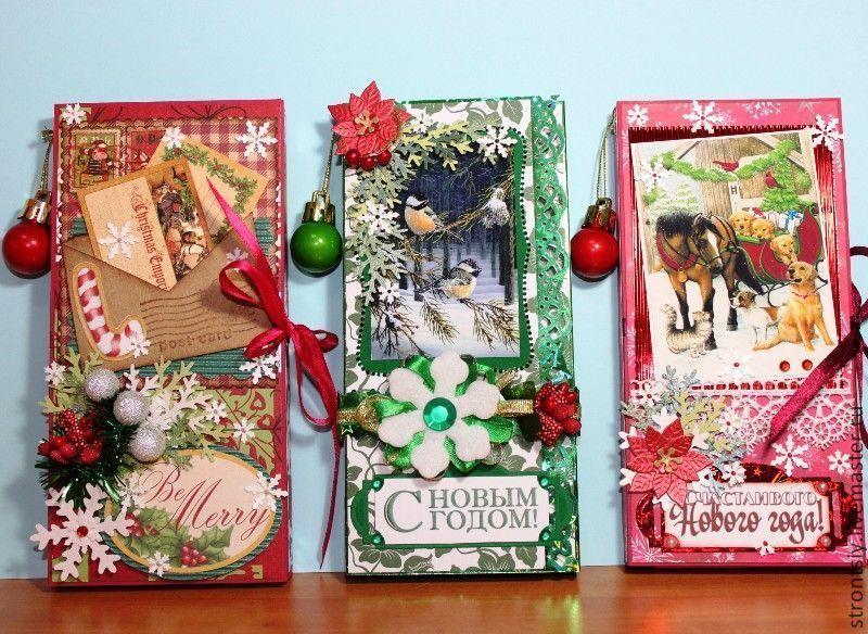 Открытки из шоколада  к новому году