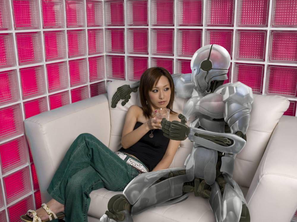 Робот трахает бабу какой