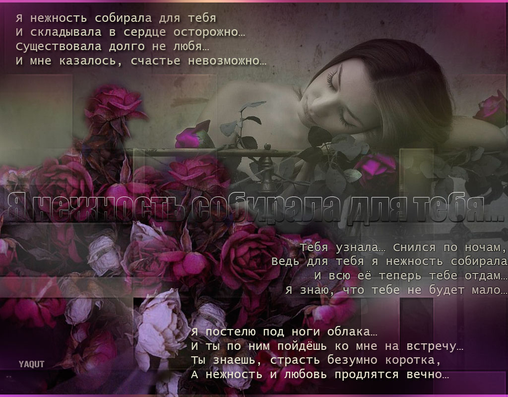 Я люблю тебя трепетно нежно стихи