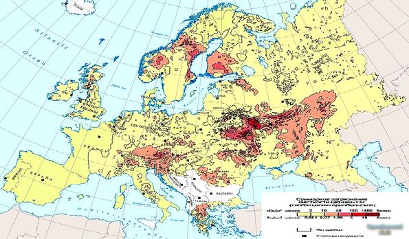 какие страны пострадали от чернобыльской аварии есть