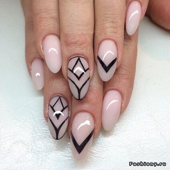 Ногти геометрия дизайн