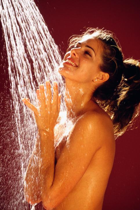 Фото с легким душем