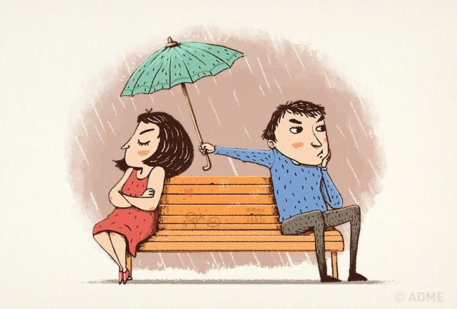 Смешные картинки ссор влюбленных