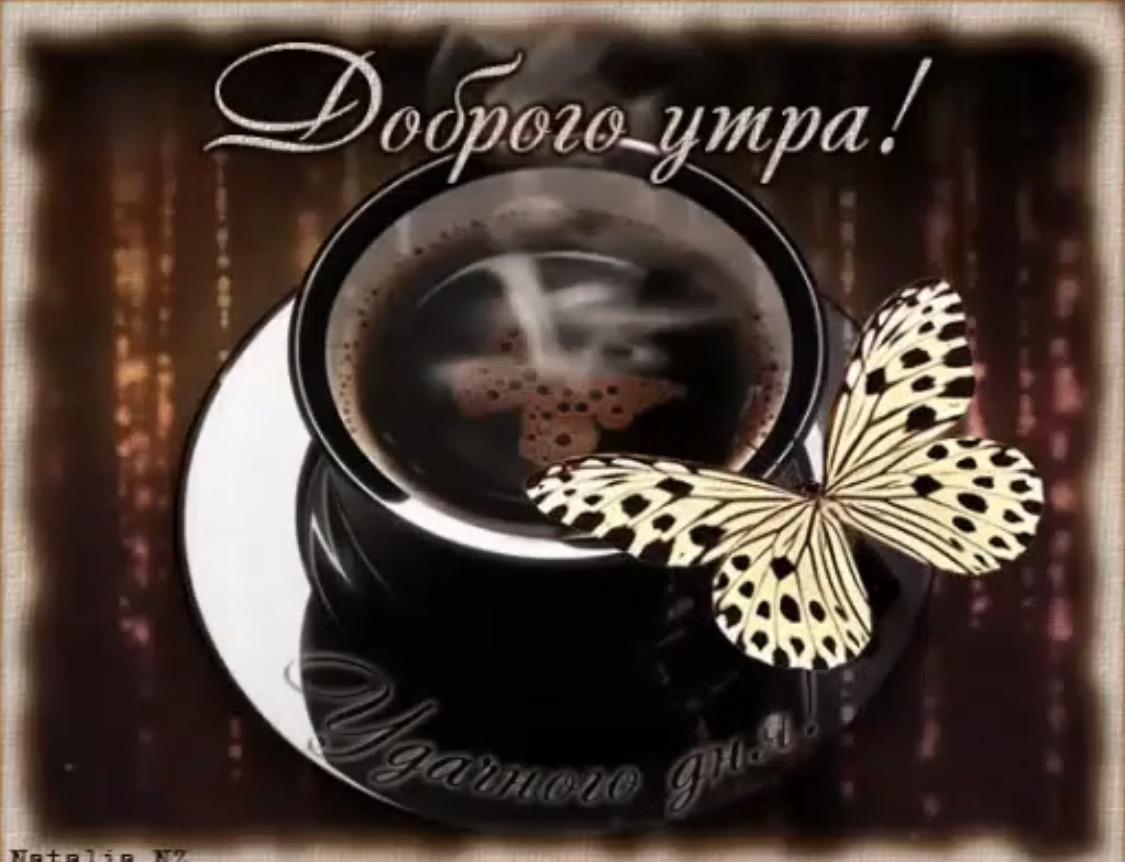 Гифки с бабочками доброе утро