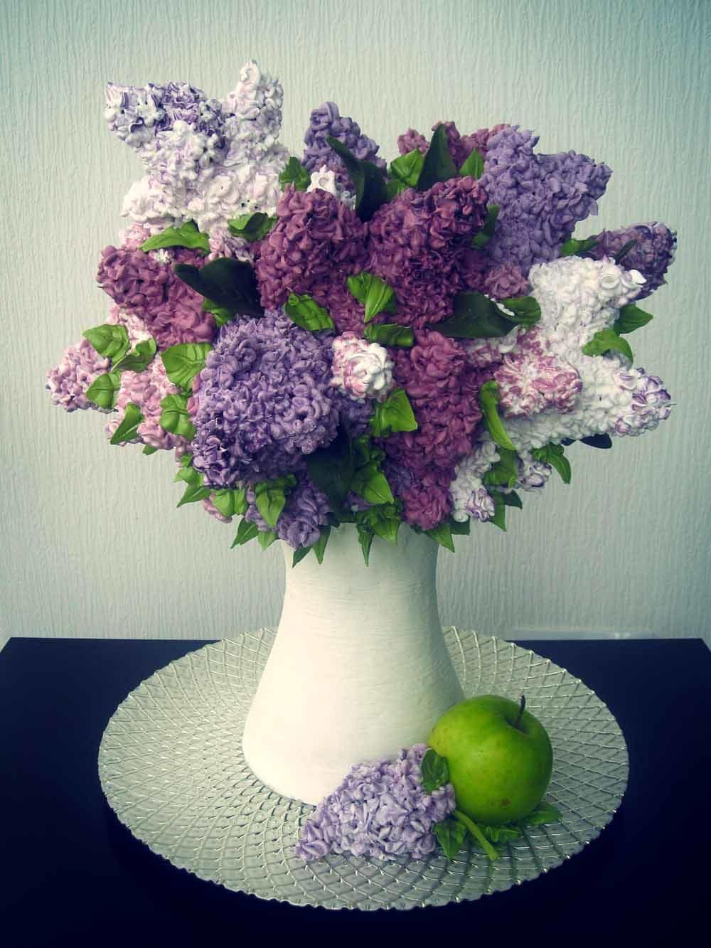 торт ваза с цветами фото