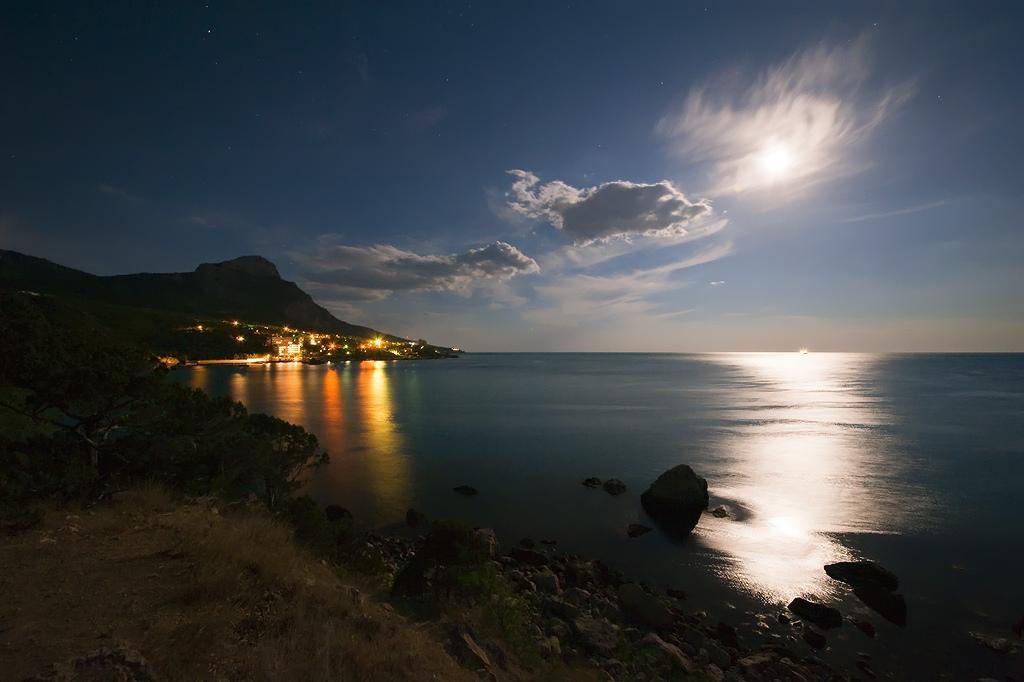 Фото ночное море крым
